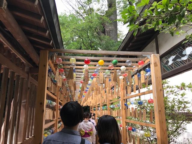 川越氷川神社 風鈴回廊