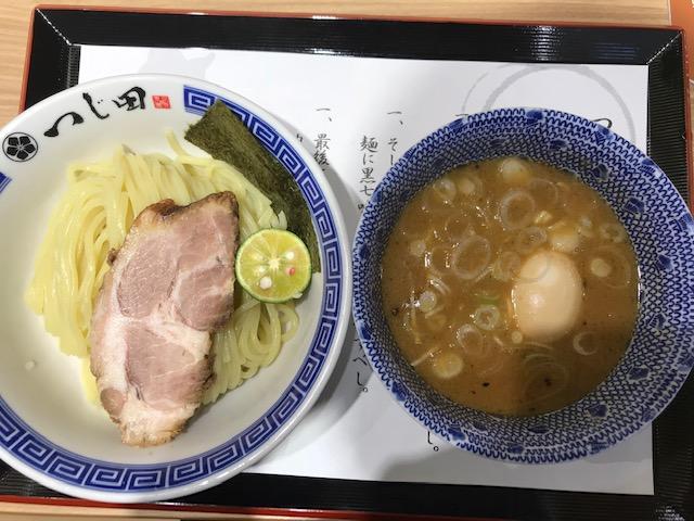 ららぽーと富士見 つじ田 濃厚味玉つけ麺